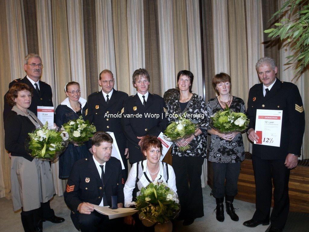 Huldiging Brandweer Oldebroek en Hattemerbroek 30-10-2008
